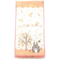Small My Neighbor Totoro Embroidered Bath Wash Scrub Towel in Pink | Studio Ghibli Japan