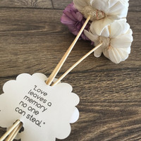 Three Flower Bouquet with quote attached