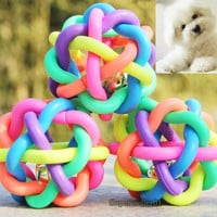 Fashion Toy Rubber Toy Dog Puppy Cat Pet Rope Knotted Sound Ball Chewing Cute
