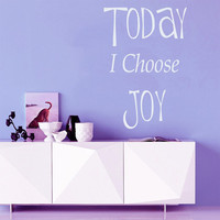 Wall Decal Quote Today I Choose Joy Inspirational Decals Vinyl Sticker Art Mural Bedroom Decor Home Interior Design Living Room Decal KY136