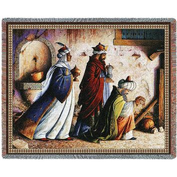 THREE KINGS CHRISTMAS  AFGHAN THROW BLANKET
