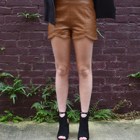 Mimosa Leather Shorts