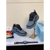 prada men fashion boots fashionable casual leather breathable sneakers running shoes 107