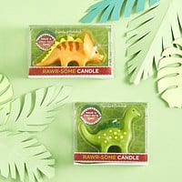 Rawr-some Mini Dinosaur Candles | Unscented | Stegosaurus or Triceratops