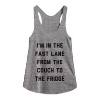 Couch to Fridge-Female Athletic Grey T-Shirt