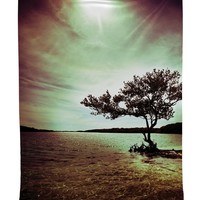 Lonely Tree Scene Tapestry Wall Hanging