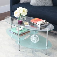 Frosted Glass 38-inch Coffee Table   Overstock.com Shopping - The Best Deals on Coffee, Sofa & End Tables