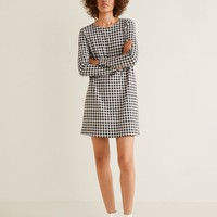 Vichy check dress - Women | MANGO United Kingdom