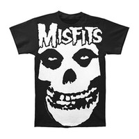 Misfits Men's  Oversized Logo W/ Skull Subway T-shirt Black