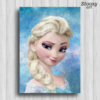 Frozen Elsa poster disney princess decor