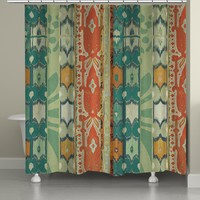 Ikat Bloom Shower Curtain