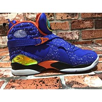 [ Free Shipping ]Nike Mens Air Jordan 8 Retro DB Hyper Blue/Orange Basketball Sneaker