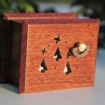 Christmas ornaments, christmas tree music box gifts for him star Silent Night