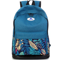 Canvas Leaf Travel Backpack Daypack Bookbag Teen Girls