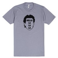 Jerry Seinfeld Hello La La La 1980s TV quote Tshirt-Slate T-Shirt