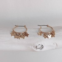 Signs Mini Gold Star Hoop Earring