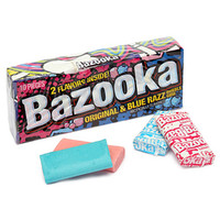 Bazooka Soft Bubblegum 10-Piece Packs: 12-Piece Box