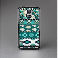 The Vector Teal & Green Aztec Pattern  Skin-Sert Case for the Samsung Galaxy S5