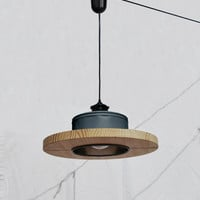 Hanging lamp, matte charcoal color.... ECO - friendly: recyled from big coffe can ! ---- ぶら下がっランプ