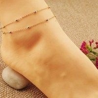 Anklets for Women Chain Double Bracelets For Ankle Gold and  Silver Chain