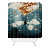 Belle13 Where All The Wishes Come True Shower Curtain