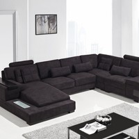 Contemporary Modern Dark sectional sofa