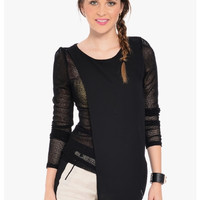 Butterfly Net Asymmetrical Top