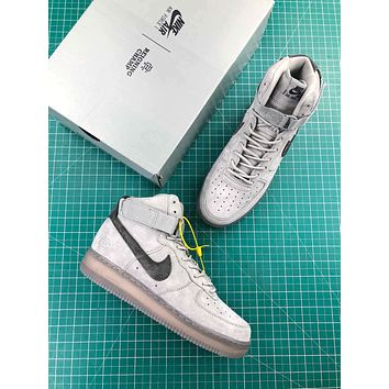 Reigning Champ X Nike Air Force 1 High 07 3m Grey Sport Shoes