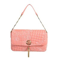 Gianni Versace Leather Pink Women's Handbag Shoulder Bag
