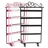Useful 48 Holes Black Jewelry Handing Earring Display Necklace Showcase Rack Stand Holder Jecksion #LN