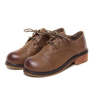 With Heel Round-toe Vintage Leather England Style Dolls Shoes [6050469313]