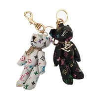 Multicolor Teddy Bear Key Holder and Bag Charm
