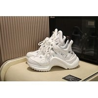 LV Louis Vuitton Men's And Women's Leather Archlight Sneakers Shoes