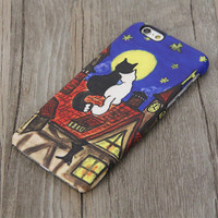 Black and White Love Cats iPhone 6 Case,iPhone 6 Plus Case,iPhone 5s Case,iPhone 5C Case,4/4s,Samsung Galaxy S5/S4/S3/Note 3/Note 2 Case
