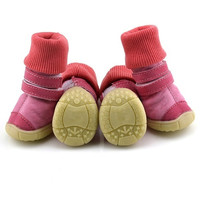 3 Colors Pet Puppy Small Dogs Shoes Winter Anti-slip Cotton Snow Boots XS-XL = 1930513732