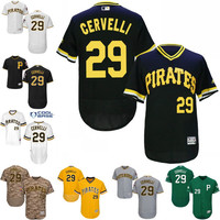 2016 Flexbase Authentic Collection Men Pittsburgh Pirates 29 Francisco Cervelli baseball jerseys Stitched S-3XL