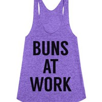 Buns at Work-Female Tri Orchid Tank