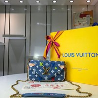 Kuyou Lv Louis Vuitton Gb29624 Monogram New Wave Size 18*11*4cm