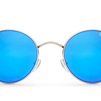 Quay - Mod Star Silver / Blue Sunglasses