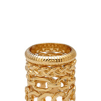 FOREVER 21 Chain Link Ring Set Gold