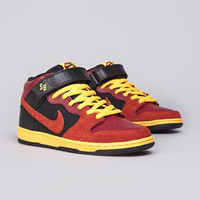 Nike SB Dunk Mid Pro Team Red / Rugged Orange - Black - Laser Orange