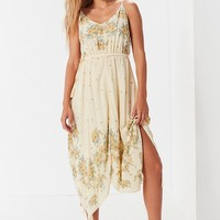 UO Floral Handkerchief Midi Dress   Urban Outfitters