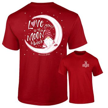 Southernology Love you to the Moon & Back Gnome Comfort Colors T-Shirt
