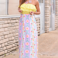 Pretty In Pastels Maxi, Purple/Yellow
