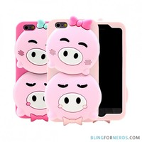 Twin Pigs Silicone Case - iPhone 6