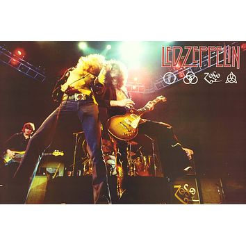 Led Zeppelin - Plant & Page Live Poster 24x36