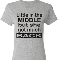 Little In The Middle but she got much Back. Squats. Abs. Fitness Shirt. Motivation. Sir Mix A Lot by WorkItWear