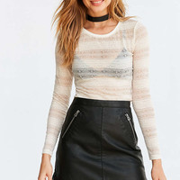 Kimchi Blue Arianna Lace Stripe Top - Urban Outfitters