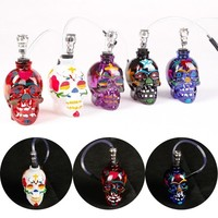 Skull Skulls Halloween Fall New  Head  Mini Shisha Pipes Narguile Glass Ghost Healthy Smoking Gift For Men Tobacco Herb Pipe Smoking Water Pipe Calavera