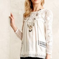 Lacework Peasant Top by Meadow Rue